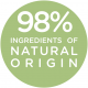 98% ingredients of natural origin